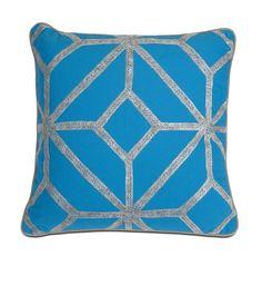 IMAX Blue and Gray Diamond Pillow