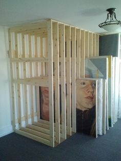 how to build art canvas storage racks - Google Search