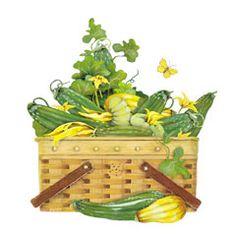 Mary Lake Thompson * Zucchini Basket