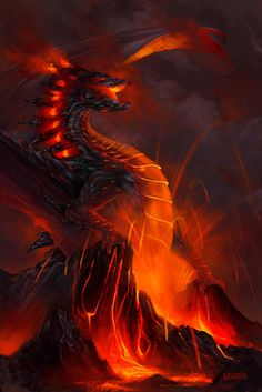 Elemental Dragons by Stephen Najarian - The Art Showcase Mythical Creatures Art, Mythological Creatures, Fantasy Creatures, Manga Dragon, Fire And Stone, Dragon Artwork, Dragon Pictures, Dragon's Lair, Dragon Design