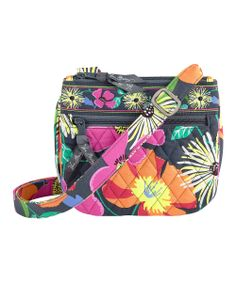 Jazzy Blooms Little Flap Hipster Crossbody Bag