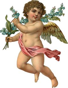 Description: A lovely Victorian die cut scrap image of a child angel or cherub holding a spray of Forget-Me-Nots , dating from the or Image is on heavy paper stock, nicely embossed, wit. Lemon Crafts, Victorian Angels, Victorian Era, Nostalgic Images, Arte Country, Angel Images, Ange Demon, One Stroke Painting, Free Graphics