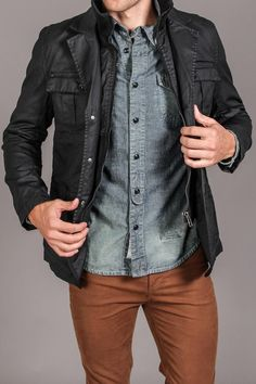 jeans hemd und braune hose