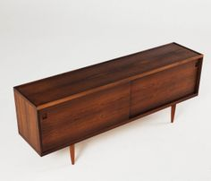 Rare rosewood credenza by Niels O. Moller | From a unique collection of antique and modern credenzas at http://www.1stdibs.com/furniture/storage-case-pieces/credenzas/