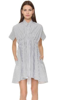 Victoria Victoria Beckham Kick Sleeve Shirtdress | SHOPBOP