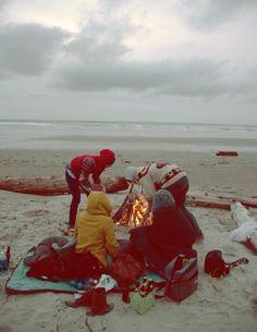 Beach Bonfire's with friends!