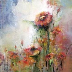 """Original art for sale at UGallery.com   In Bloom by Karen Hale   $1,575   acrylic painting   26"""" h x 26"""" w   http://www.ugallery.com/acrylic-painting-in-bloom-25236"""