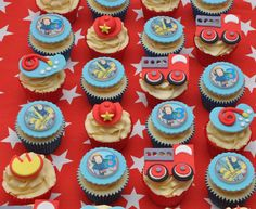 Fireman Sam Cupcakes by Cupcakes 2 Heaven, Lesmurdie, Western Australia. You'll find this Cake Appreciation Society Member in our Directory at www.cakeappreciationsociety.com