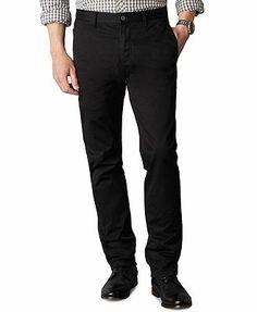 Dockers Pants, Tapered Fit Alpha Khaki Flat Front
