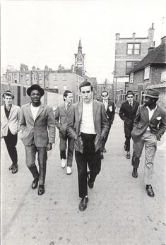 The Specials. They look like a bunch of young men you would not like to me meet in a forgotten alley way. Ska  2 Tone
