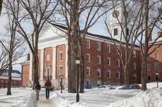 Students on the campus of Amherst College.