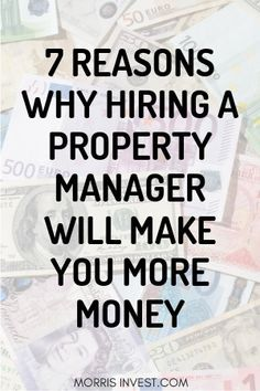 7 Reasons Why Hiring A Property Management Company Will Put More Money In Your Pocket If you're just starting on your rental property journey, or, you're a seasoned investor, most likely, your goal is to maximize your profits and expand your portfolio. Management Company, Property Management, Money Management, Real Estate Rentals, Real Estate Tips, Jobs In Real Estate, Income Property, Rental Property, Real Estate Investor