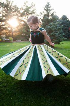 Anna's Coronation Dress with quick how to.