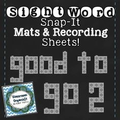 In this 71 pg package, you will receive: 1 sight word list of {56 sight words} 10 tables for words to be built, to record the # of cubes used, and to write the word 56 words on mats with traceable words at the top of each mat  *This is set 2 of my {Sight Word Snap-it!}  *Because these are made with the snap cubes clip art, the mats are a guide for the students to use.