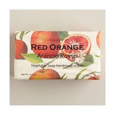 Cost Plus World Market Red Orange Organic Italian Vegetable Soap $6.99