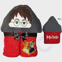 Harry Potter Hooded Towel boy hooded towel by KiarrahsEmbroidery