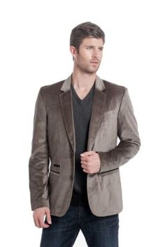 Perfect for the upcoming parties on your calendar, this soft-to-the-touch blazer pulls together dressed-up looks.      • Velveteen blazer. Notched lapels. Long sleeves with triple button cuffs.   • Single welt pocket at left chest. Two additional welt pockets and coin pocket at lower front. Double vent.   • Two button closure. Lined.   • 68% Cotton, 32% Rayon. Lining: 54% Polyester, 46% Viscose.   • Dry clean    RUSH VELVETEEN BLAZER  $148.00
