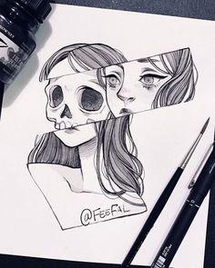 Trendy Ideas For Doodle Art Design Black Easy Pencil Drawings, Pencil Drawing Images, Dark Art Drawings, Random Drawings, Drawings Of Love, Drawings Of Girls, Random Tattoos, Hipster Drawings, Tumblr Drawings
