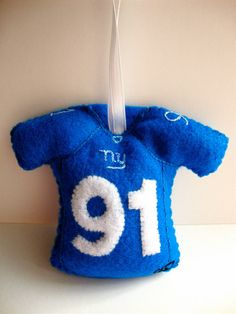 Personalized NFL Jersey Felt Ornament