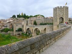 @greathistory posted to Instagram: Medieval Bridge of Besalú - Catalonia - Wikipedia  . For a great virtual travel experience to with your class, try my Spanish Culture Worksheet: 23 Multiple-Choice Questions to go with the Barcelona and Cataluña episode of Rick Steves' Europe, currently available for free streaming online! Great for Spanish, history, art, and world cultures classes! Great for distance learning! Covers Picasso, Salvador Dalí, Antoni Gaudí and more, all while visiting key… Rick Steves, Virtual Travel, Spanish Culture, Antoni Gaudi, Multiple Choice, World Cultures, Picasso, Salvador, Barcelona Cathedral