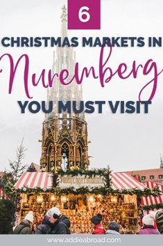 Going to travel to Nuremberg this winter? Here are the 6 Nuremberg Christmas Markets you need to visit, incudling the Nuremberg Christkindlmarkt, the Nuremberg Children's Christmas Market, and the Feuerzangenbowle! Nuremberg Christmas Market, Christmas Markets Europe, Christmas Travel, Holiday Travel, Christmas Time, Travel Through Europe, Europe Travel Guide, Travel Guides, Budget Travel