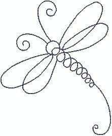 Dragonfly Line Machine Embroidery Design by sophieslittlebits                                                                                                                                                                                 Mais