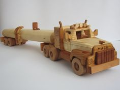 Rubber Duck Mack Truck tanker trailer truck trailers very large wooden car model car very difficult XXL