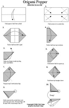 paper poppers instructions - Google Search