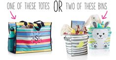 Thirty-One Gifts – Which do you choose? #ThirtyOneGifts #ThirtyOne #Monogramming #Organization #February2018Special #TwoMiniStorageBins #DeluxeOrganizingUtilityTote