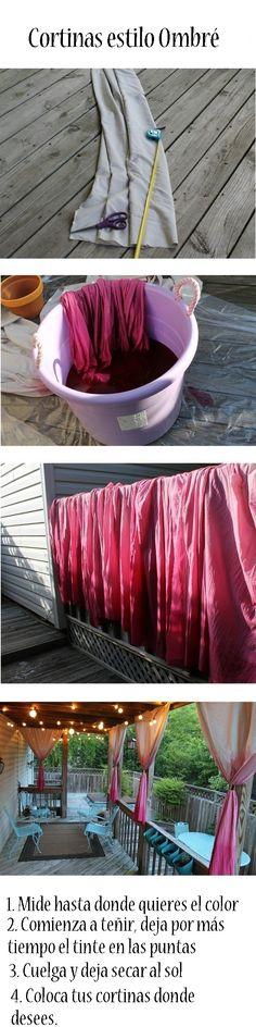 Cortinas ombre. El día de hoy te mostraremos cómo hacer este estilo en cortinas para tu hogar. http://wp.me/p1ytFq-JS