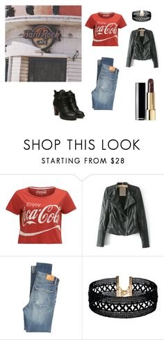 """""""Going Hard Rock Cafe"""" by rosaregaler on Polyvore featuring Citizens of Humanity, Vanessa Mooney ve vintage"""