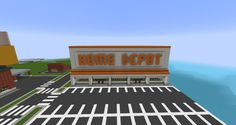 Home Depot Minecraft Map Minecraft Modern City, Minecraft City Buildings, Minecraft House Plans, Minecraft Structures, Easy Minecraft Houses, Minecraft Houses Blueprints, Minecraft Room, Minecraft House Designs, Minecraft Decorations