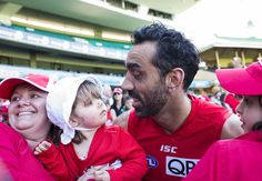 The AFL grand final in Melbourne on Saturday is not only a celebration of the two finest teams in the league, but of the veteran players retiring from the game.One such legend, Sydney Swans champion A. Adam Goodes, Melbourne, Sydney, Swans, Growing Up, Champion, Celebrities, Women, Swan