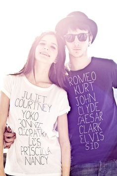 """""""Cute his & hers t-shirts."""" Wow, really?? Most of these couples die in pretty awful ways!!! NOT the couples t-shirts I would choose!!"""