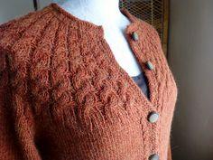 Ravelry: Copperline pattern by Eileen Vito- beautiful yoke