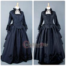 Free Shipping Custom-made Medieval Victorian Gown Ball Costume Dark Blue Gothic Punk Dress //Price: $US $131.39 & Up To 18% Cashback //     #steampunktendencies