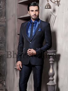 Exquisite black color shawl lapel Imported fabric #Blazer having two buttons. Item Code: TSP2728 http://www.bharatplaza.com/new-arrivals/mens-suits.html