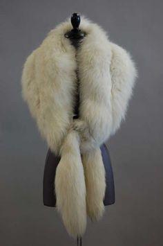 Artic fox fur stole ~ 1930's