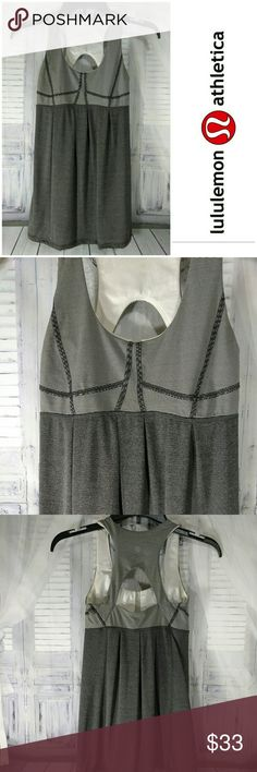 Lululemon Run: Your Heart Out Tank Heathered Black / Microstripe lululemon athletica Tops Tank Tops