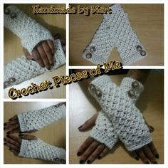 I crocheted these fingerless gloves for my friend's wife. She loved them. And so did I!!! These are my favorite ones yet!