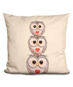 LiLiPi Little Pitti Three Owls Throw Pillow | zulily