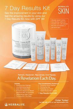Herbalife SKIN 7 Day Kit Poster