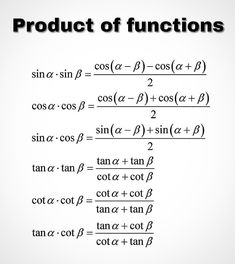 Product of Functions Physics Formulas, Physics And Mathematics, Chemistry Lessons, Math Lessons, Math Quotes, Teacher Quotes, Quotes Quotes, Math Formula Chart, Math Tutorials