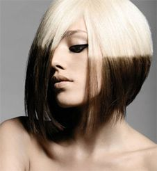 2012 - For an even bolder look, try a two-tone hair color. Instead of having just blonde hair, dye the bottom half brown. It's definitely a look you won't see anyone else rocking. It's futuristic and experimental, and easy to re-dye.