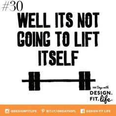 """Day #30 Work For It: This does NOT only pertain to bulking up in the gym...that barbell represents ANYTHING you REALLY want in life. It will take time, determination, hard work, some sweat, some tears, lots of laughter and DEDICATION...the """"weights"""" or """"obstacles"""" in our path, will not miraculously lift themselves. Be patient, work on it every day, and you will crush your goals in this last month of the year. So stay focused, and know that you have the INNER STRENGTH to overcome anything."""