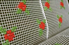 Cross Stitch Street Art – Embroidered Art Taken To The Next Level - Bored Art Cross Stitch Art, Cross Stitching, Cross Stitch Patterns, Yarn Bombing, Embroidery Applique, Cross Stitch Embroidery, Guerilla Knitting, Knit Art, Fence Art