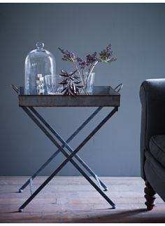Zinc Tray Table - A great-looking occasional or serving table in distressed zinc. £90.00