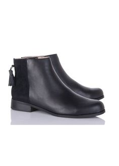 Bottines plates cuir  NOIR by MELLOW YELLOW