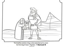 Saul and Samuel Coloring Page