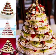 Meringue Christmas Trees!